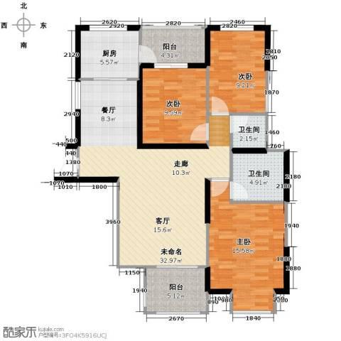 旭辉华庭3室0厅2卫1厨120.00㎡户型图