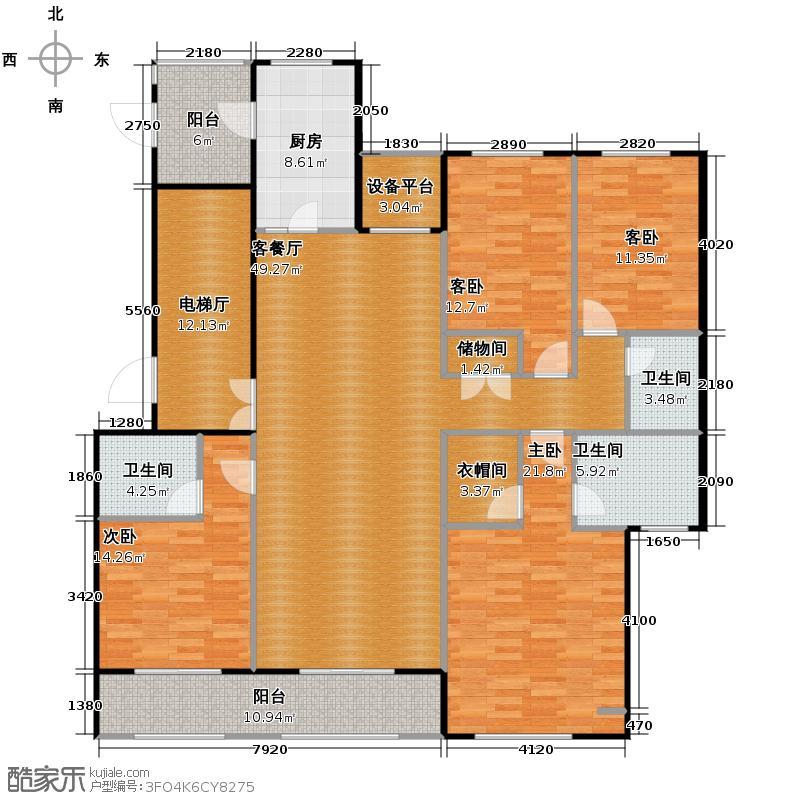 绿地中心177.00㎡A2户型4室2厅3卫