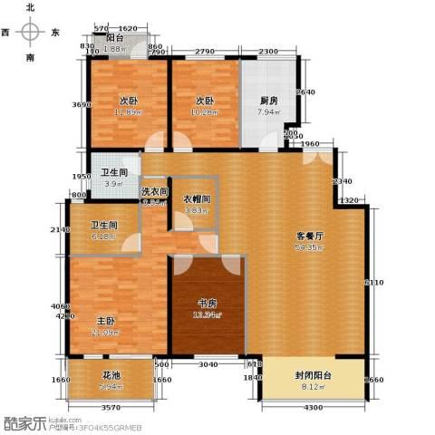 领秀新硅谷4室1厅2卫1厨153.00㎡户型图