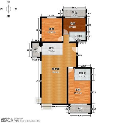 领秀新硅谷3室1厅2卫0厨140.00㎡户型图