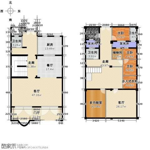 绿城云栖玫瑰园3室1厅3卫1厨376.00㎡户型图