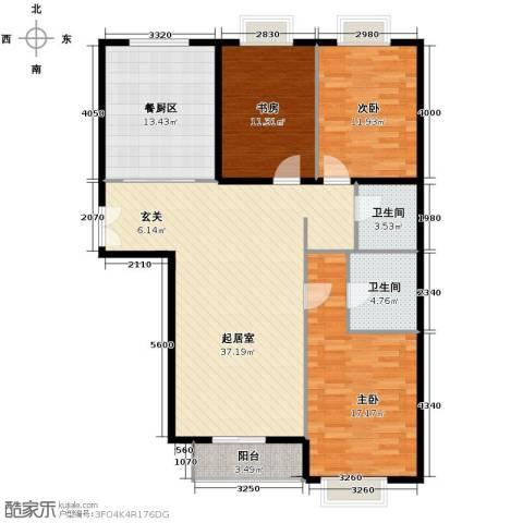 世纪东方城3室0厅2卫0厨138.00㎡户型图
