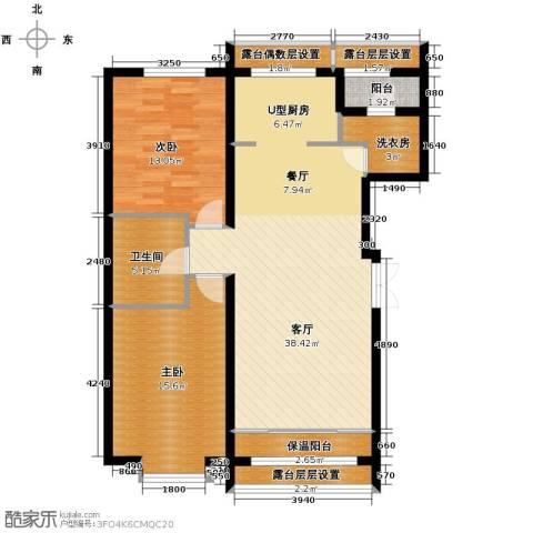 富达蓝山2室1厅1卫0厨85.36㎡户型图