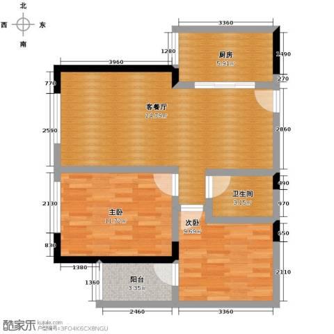 金色梧桐2室2厅1卫0厨88.00㎡户型图