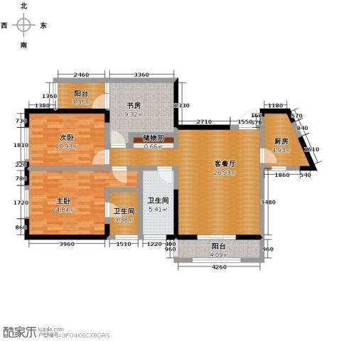 金色梧桐3室2厅2卫0厨124.00㎡户型图