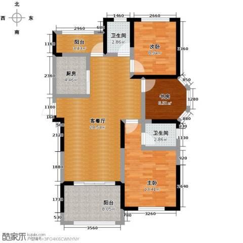 圣联梦溪小镇3室2厅2卫0厨110.00㎡户型图