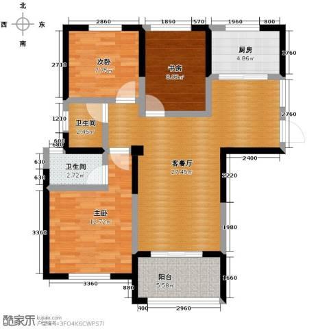 圣联梦溪小镇3室2厅2卫0厨104.00㎡户型图
