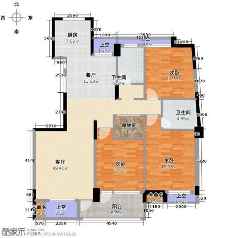 红苹果3室1厅2卫0厨130.00㎡户型图