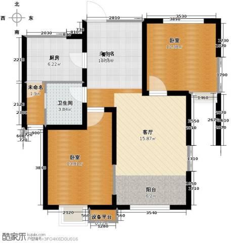 恒盛豪庭2室2厅1卫0厨93.00㎡户型图