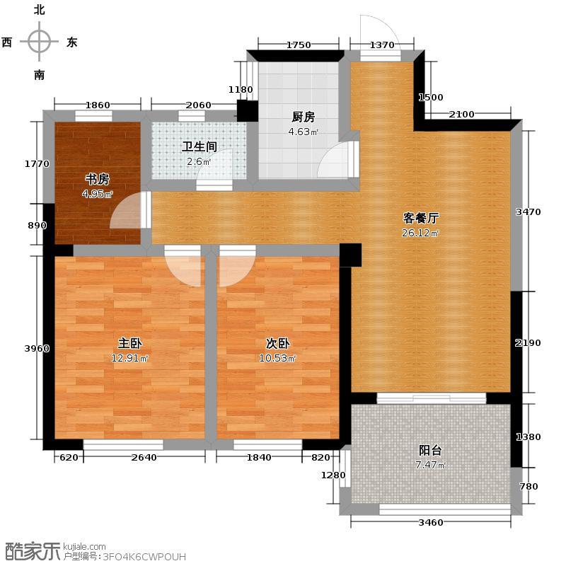 圣联梦溪小镇98.00㎡户型3室2厅1卫