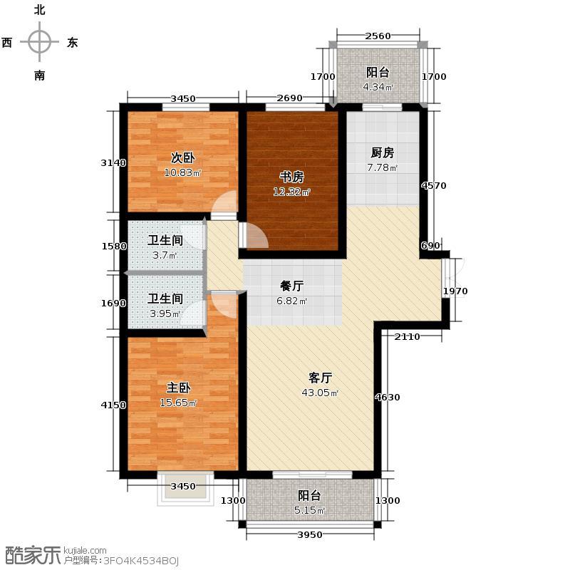 汇锦城139.88㎡和平时光8-L3反户型3室1厅2卫