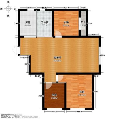 荣旺天下3室1厅1卫1厨117.00㎡户型图