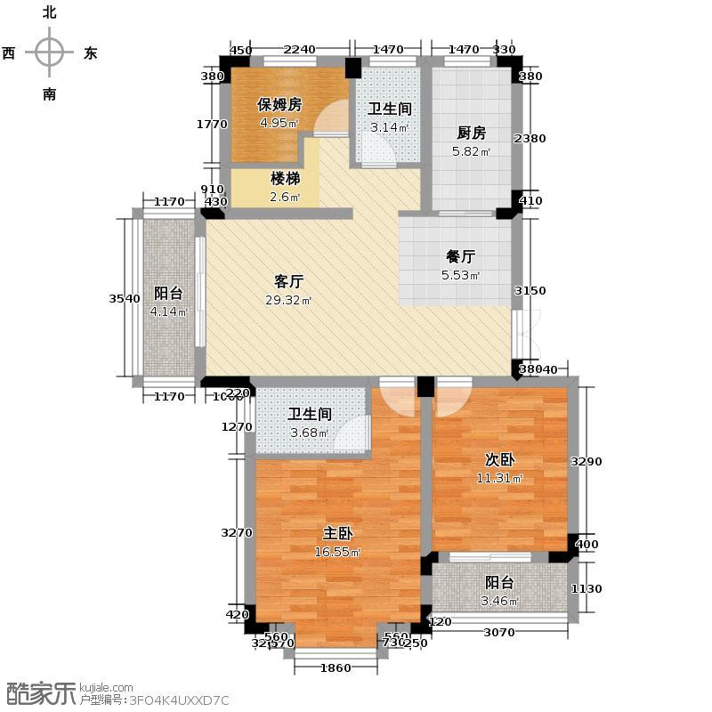 景丽华庭181.00㎡D2跃层(下层)户型2室1厅2卫1厨