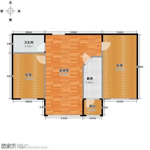 柏悦星城1室1厅1卫0厨100.00㎡户型图