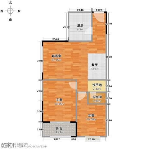 天朗御湖2室0厅1卫1厨113.00㎡户型图