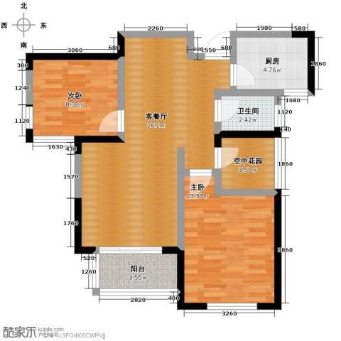圣联梦溪小镇2室2厅1卫0厨88.00㎡户型图