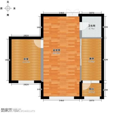 柏悦星城1室2厅1卫0厨72.00㎡户型图