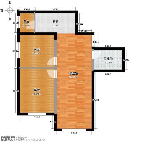 柏悦星城2室2厅1卫0厨102.00㎡户型图