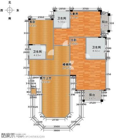 保利阆峰云墅3室0厅3卫0厨129.08㎡户型图