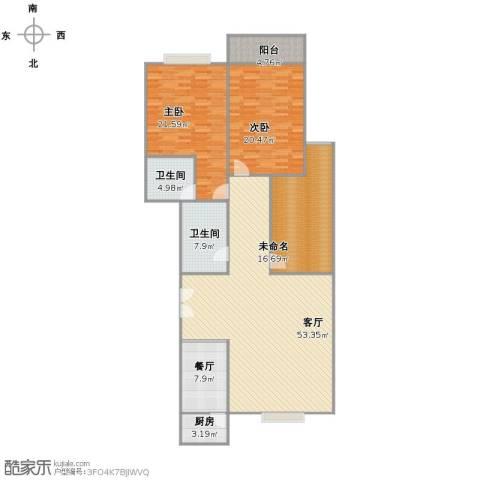 腾龙雅苑2室2厅2卫1厨187.00㎡户型图
