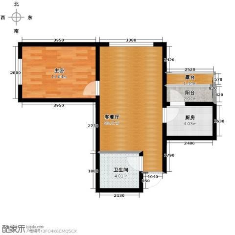 富达蓝山1室1厅1卫0厨42.73㎡户型图