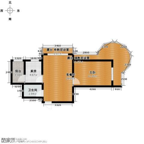 富达蓝山1室1厅1卫0厨54.69㎡户型图