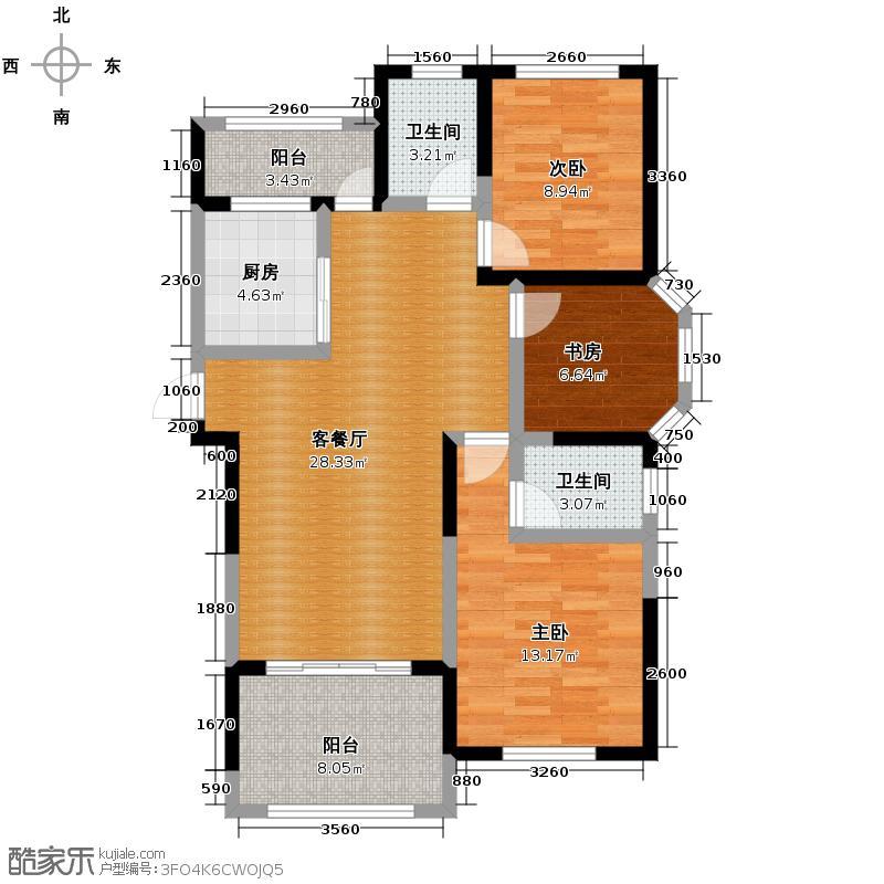 圣联梦溪小镇110.00㎡2#0户型3室2厅2卫