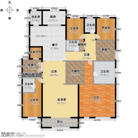 中海紫御华府4室3厅3卫0厨320.00㎡户型图