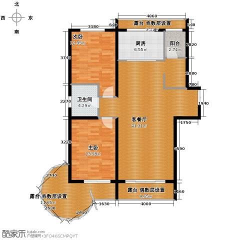 富达蓝山2室1厅1卫0厨101.22㎡户型图