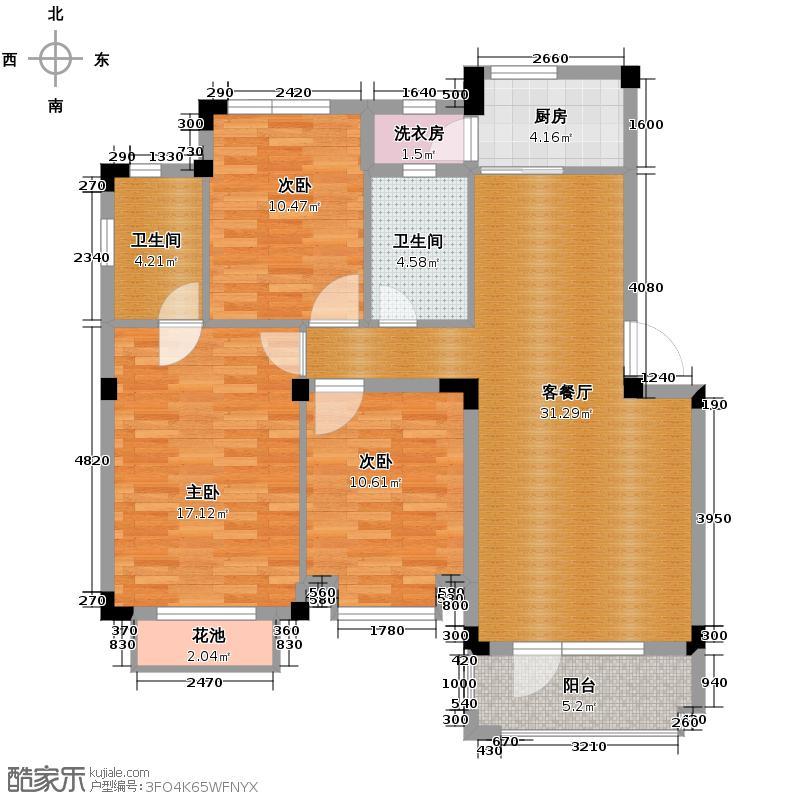 中旅国际小镇德邑103.24㎡中旅国际小镇户型3室1厅2卫1厨