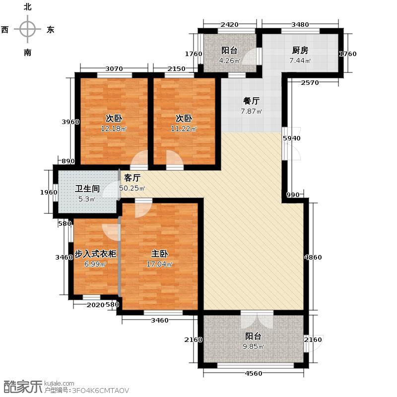 盛和天下101.40㎡G16/G17户型3室2厅2卫
