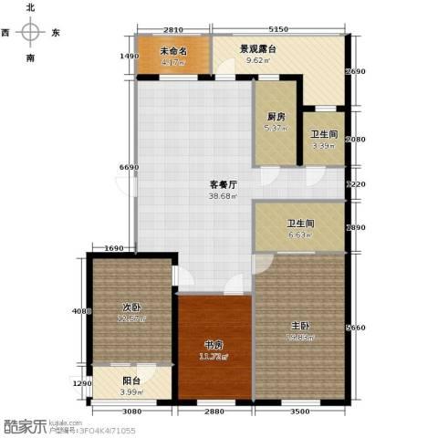 大都文苑风情3室1厅2卫1厨143.00㎡户型图