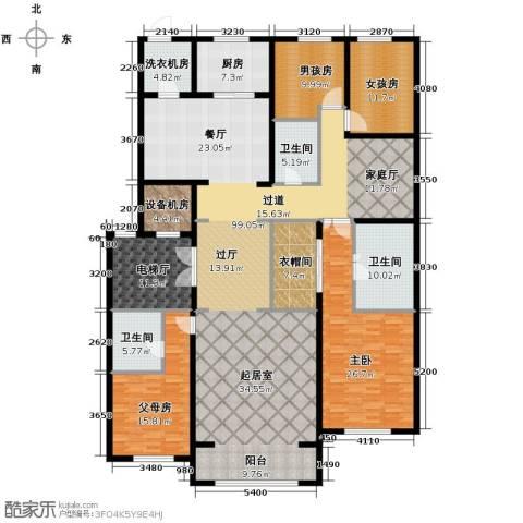 中海紫御华府4室3厅3卫0厨240.00㎡户型图