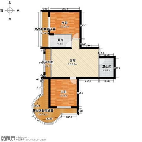 富达蓝山2室1厅1卫0厨73.58㎡户型图