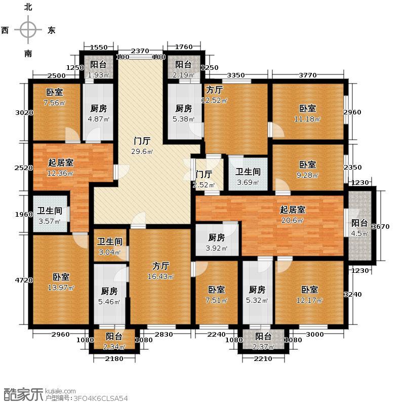 滨江逸品236.22㎡2号楼4单元户型10室