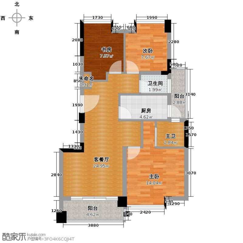 劲嘉金棕榈园89.00㎡9栋01/02单位户型3室2厅2卫