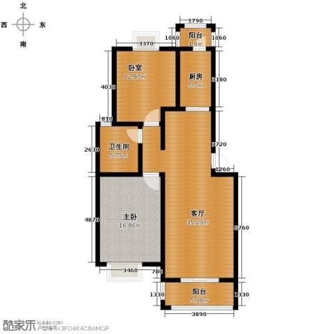 恒盛泰晤士印象1室1厅1卫1厨92.00㎡户型图