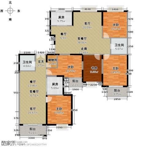 海天城5室2厅2卫2厨167.80㎡户型图