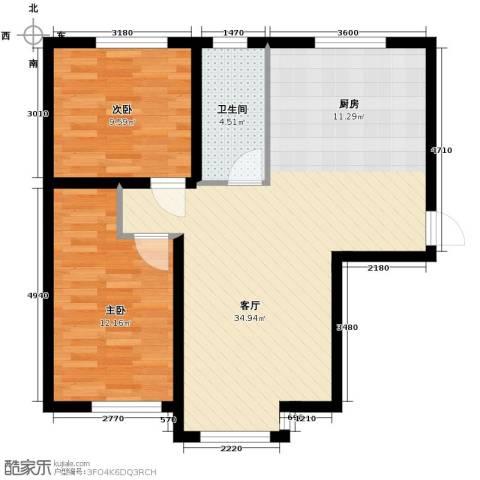 吉大菲尔瑞特2室1厅1卫0厨82.00㎡户型图