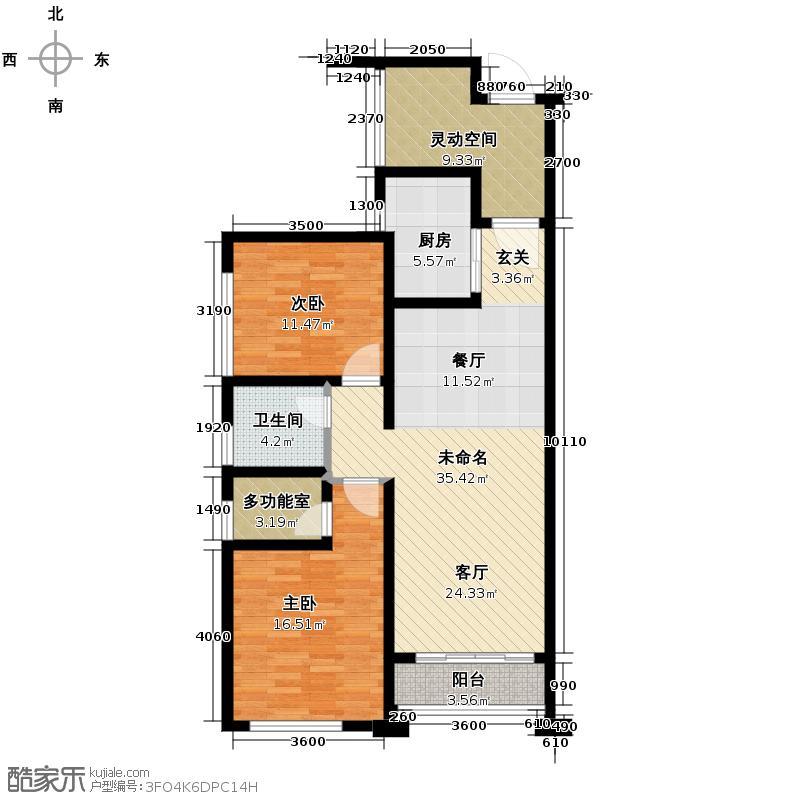 依云天汇103.00㎡北区C04户型3室2厅1卫