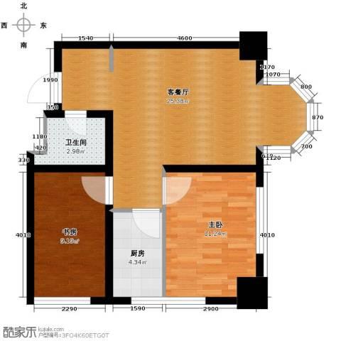 中海国际公寓2室1厅1卫1厨82.00㎡户型图