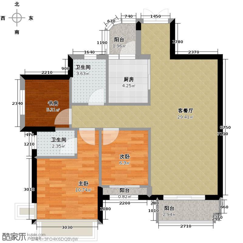 中恒海晖城91.96㎡三期40栋03单元户型3室2厅2卫