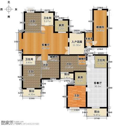 海天城5室2厅3卫2厨206.05㎡户型图