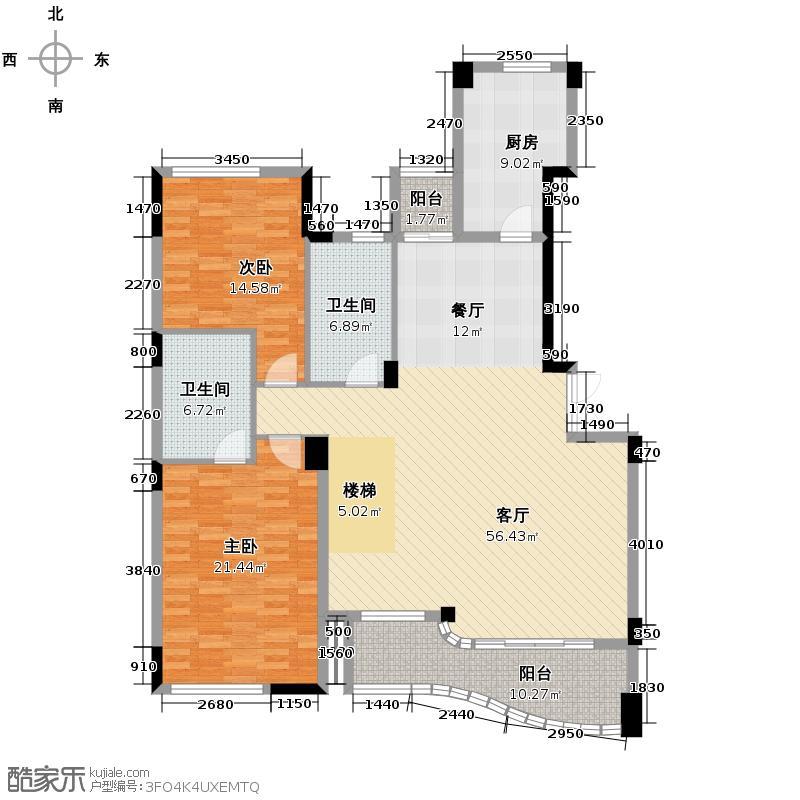 绿城风华苑276.00㎡户型2室1厅2卫1厨