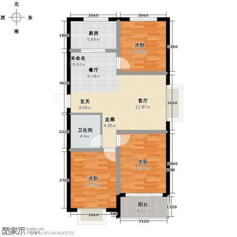 尚品居3室0厅1卫1厨112.00㎡户型图