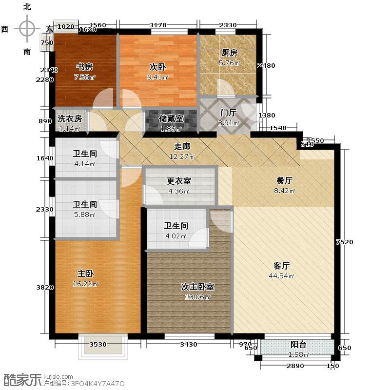 远洋万和城191.00㎡A1-1号楼01户型3室1厅3卫1厨