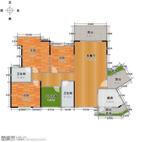 海逸锦绣誉峰4室2厅2卫0厨146.00㎡户型图