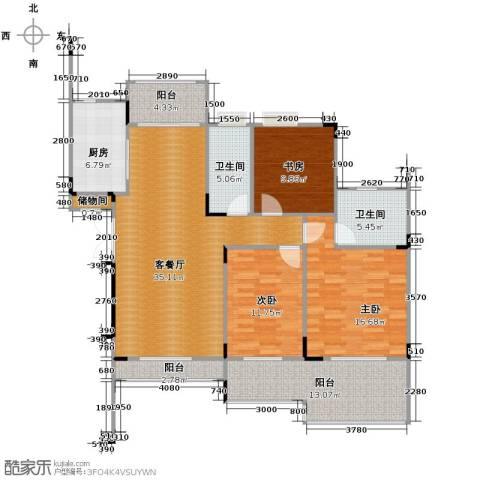 伊萨卡排屋3室1厅2卫1厨151.00㎡户型图