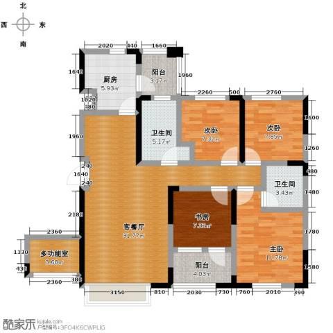 益田枫露4室2厅2卫0厨108.17㎡户型图
