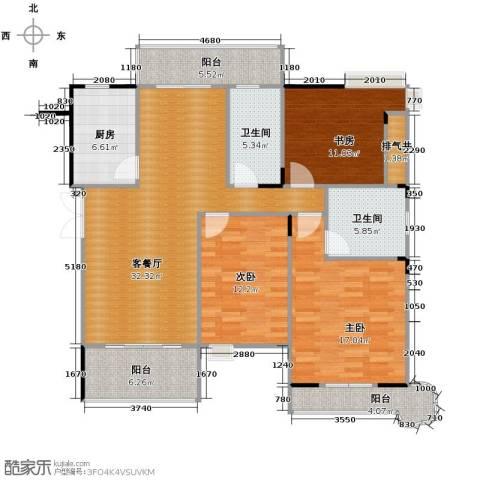 伊萨卡排屋3室1厅2卫1厨146.00㎡户型图